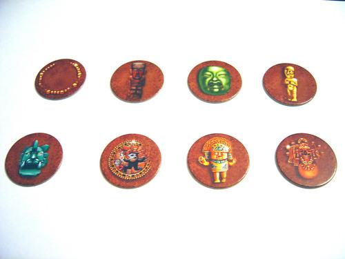 Voici les 8 trésors qui existent. Ils sont en 3 exemplaires chacun.