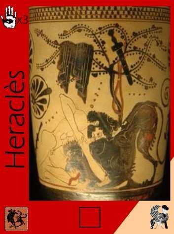 Carte Héros du Dieu Zeus : En haut à gauche le nombre le voix minimum pour que le héros soit élu, en bas à gauche son pouvoir et en bas à droite le bénéfice si l'on défaussse cette carte.