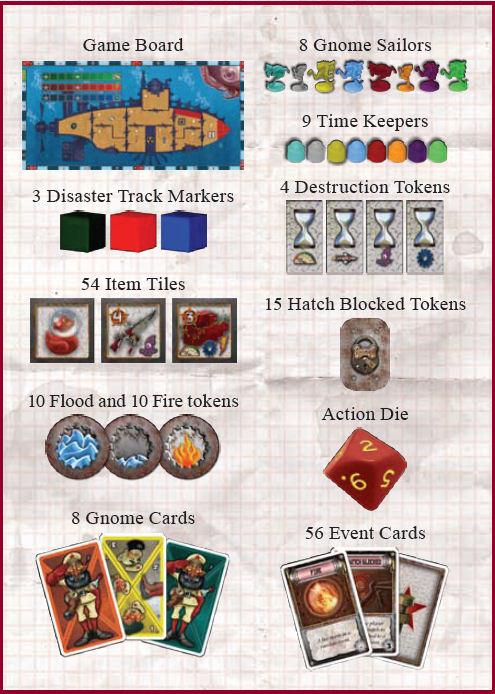 Voici tout le matériel du jeu